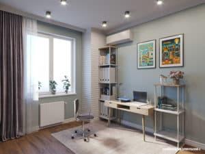 Дизайн интерьера кабинета в доме