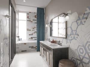 Дизайн ванной комнаты в доме