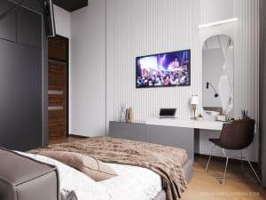 Интерьер светлой спальни: дизайн-проект.