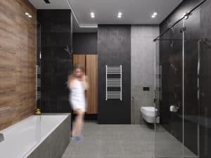 Дизайн темной ванной комнаты в Одессе 2020