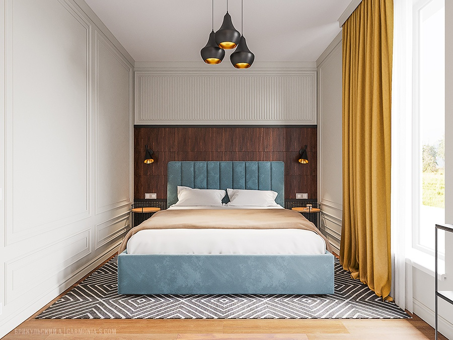 Dizain spalni v sovremennom stile v Odesse